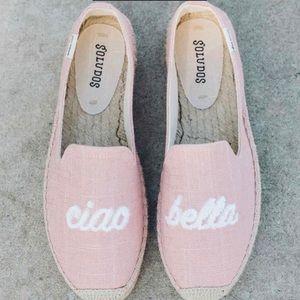 Soludos CIAO BELLA Pink Canvas Espadrilles NWOT